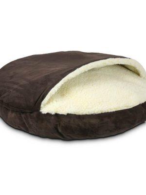 Snoozer Cozy Cave Large - Hot Fudge