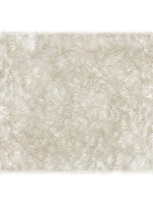 Ruggable Washable Rug - Shag White (150cm x 210 cm)-0