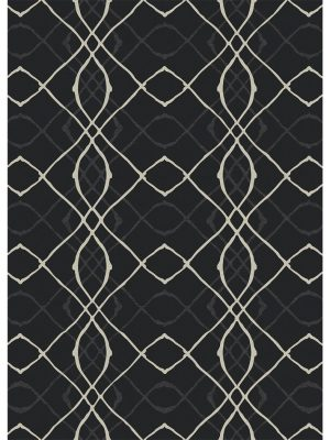 Ruggable Washable Rug - Amara Black (150cm x 210 cm)-0