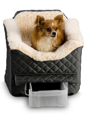 Snoozer Lookout II Honden Autostoel - Medium - Black (tot 11,5 kg) met opberglade-0