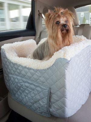 Snoozer Lookout II Honden Autostoel - Small - Grey (tot 11,5 kg) met opberglade-0