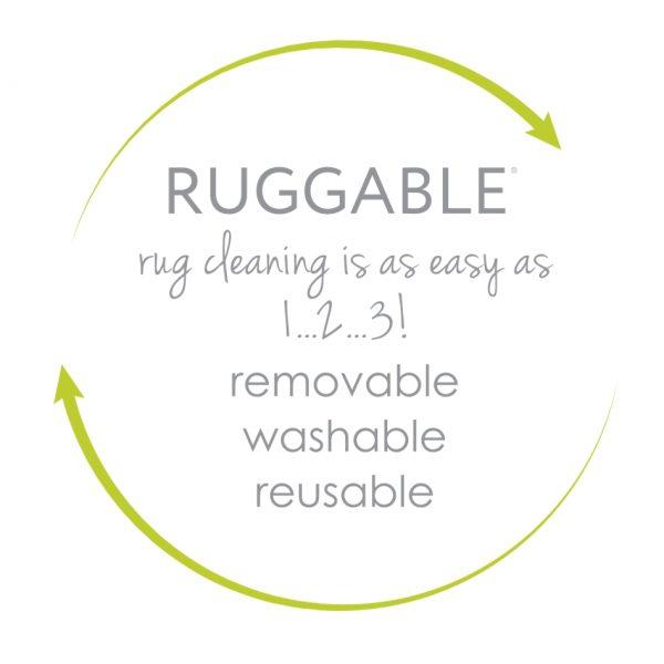 Ruggable Washable Rug - Trellis Gate Rich Grey & White (150cm x 210 cm)-496