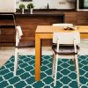 Ruggable Washable Rug - Moroccan Trellis Teal (150cm x 210 cm)-543
