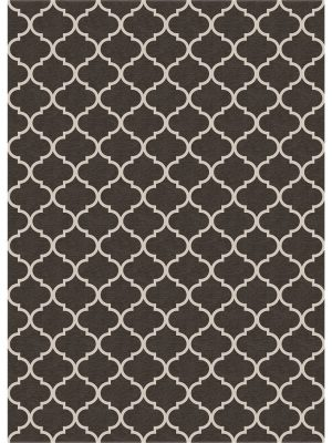 Ruggable Washable Rug - Trellis Gate Rich Grey & White (150cm x 210 cm)-0