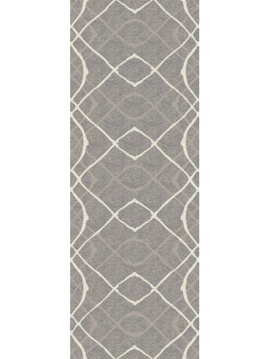 Ruggable Washable Rug - Amara Grey (67 cm x 210 cm)-0