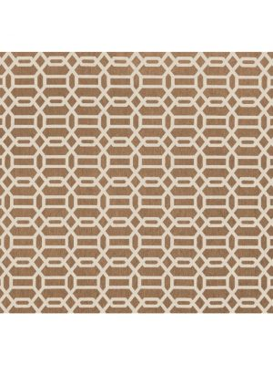 Ruggable Washable Rug - Modern Fretwork Rich Tan & White (150cm x 210 cm)-0