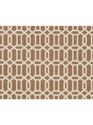 Ruggable Washable Rug- Modern Fretwork Rich Tan & White (90 cm x 150 cm)-0