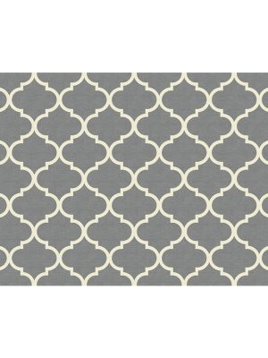 Ruggable. Washable Rug - Moroccan Trellis Grey (90 cm x 150 cm)-0