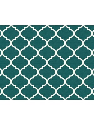 Ruggable Washable Rug - Moroccan Trellis Teal (90 cm x 150 cm)-0