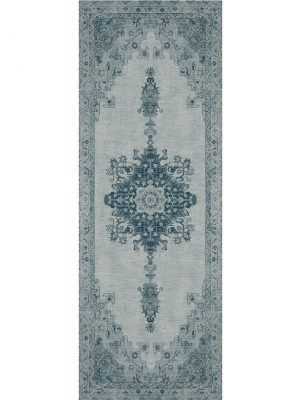 Ruggable Washable Rug - Parisa Blue (67 cm x 210 cm)-0