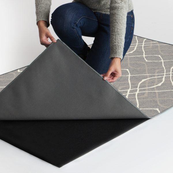 Ruggable Washable Rug - Amara Grey (90 cm x 150 cm)-1061