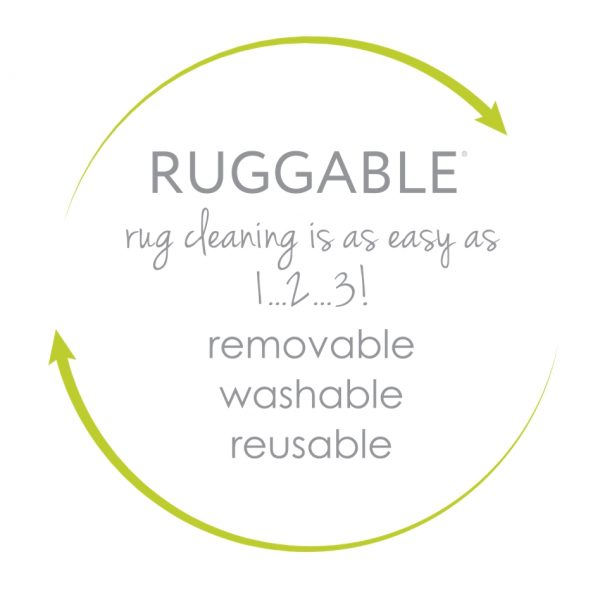 Ruggable Washable Rug - Modern Fretwork Rich Tan & White (150cm x 210 cm)-640