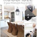 Ruggable Washable Rug - Solid Textured Cream (90 cm x 150 cm)-1086