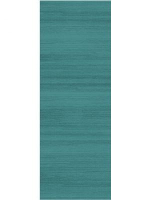 Ruggable Washable Rug - Solid Textured Ocean Blue (67 cm x 210 cm)-0
