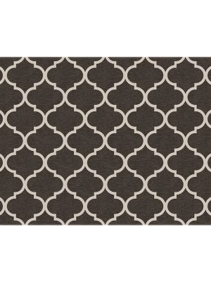 Ruggable Washable Rug - Trellis Gate Rich Grey & White (90 cm x 150 cm)-0