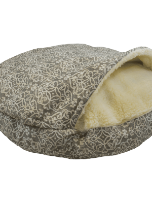 Snoozer Cozy Cave Large - Gondola Grey - WAG Collection-0