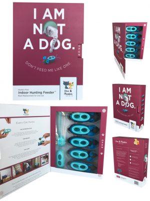 Doc & Phoebe's Interactive Indoor Hunting Cat Feeder - Complete vervanging voor de voerbak van 1 kat-0