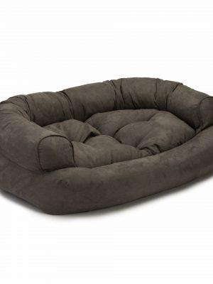 Snoozer Pet Products - Overstuffed Sofa Hondenbed - Dark Chocolate (Luxury)-0