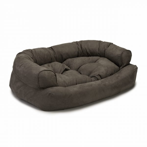 Snoozer Pet Products - Overstuffed Sofa Hondenbed - Dark Chocolate (Luxury)-0