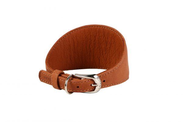 Lederen halsband voor (oa) windhonden - Collar Soft - zwart of bruin-1812