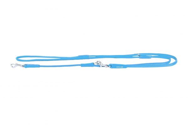 Multifunctionele rondgenaaide lederen hondenriem - COLLAR GLAMOUR - verschillende kleuren-1834