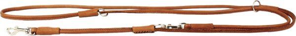 Multifunctionele rondgenaaide lederen hondenriem - COLLAR SOFT - zwart of bruin-1797