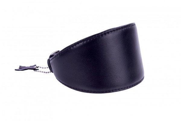 Lederen halsband voor (oa) windhonden - Collar Soft - zwart of bruin-1808