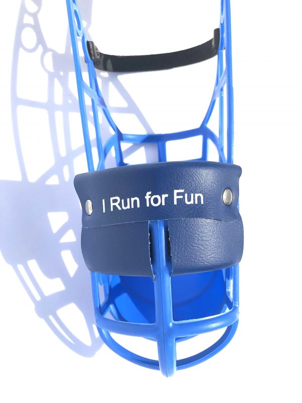 I Run For Fun - Muzzle - Large Double Padded-2638