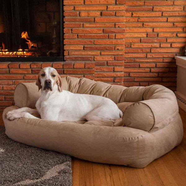 Snoozer Pet Products - Overstuffed Sofa Hondenbed - Palmer Dove (Show Dog)-2784